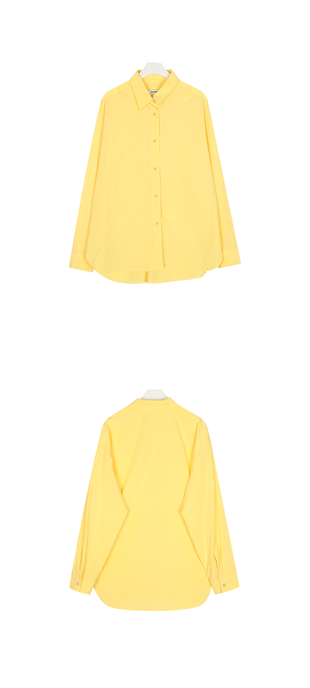 누이슈(NUISSUE) FRUITY COLOR BASIC SHIRTS LEMON
