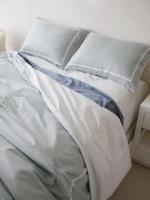 Lightblue white lining bedding set (modern)