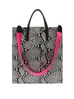 Abigail Tote bag_Python Gray