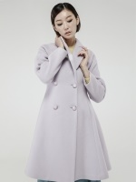Feminine Flare Wool Coat_LAVENDER